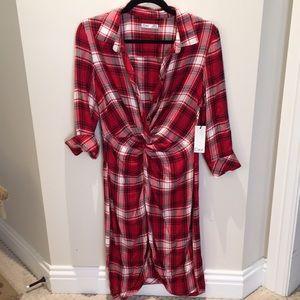 DEX/XS/ NEW plaid dress, never worn .